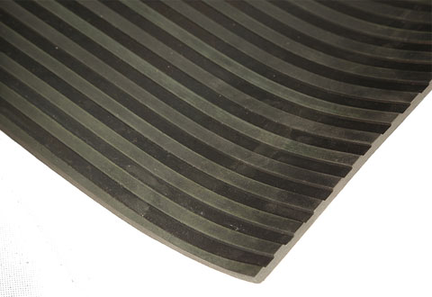 Broad Rib Pattern Rubber Matting